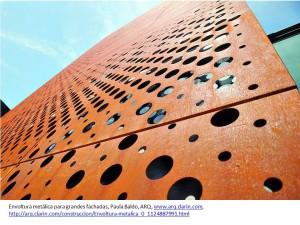 Envoltura metálica para grandes fachadas