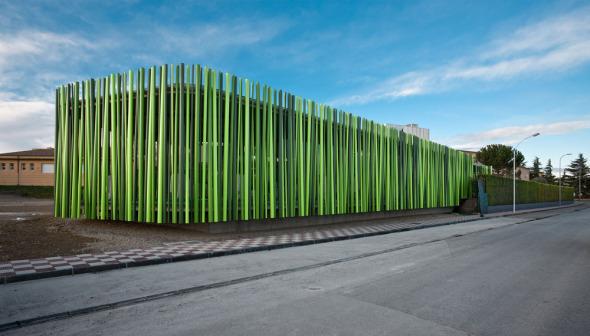 Arquitecturas construidas con materiales no convencionales - Materiales de construccion para fachadas ...